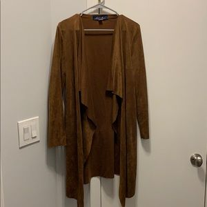 Brown suede cardigan size m